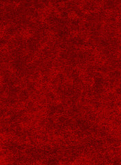A red background with heavy texture.