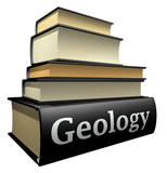 Education books - geology poster