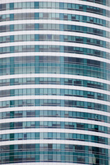 China, Shanghai. Closeup photo of office building.