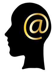 testa e-mail
