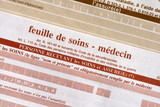 feuille,soin,soins,assurance, carte, vitale, docteur, hopitaux, poster