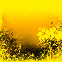 yellow landscape background