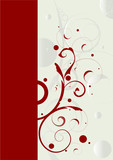 Editable abstract floral vector illustration poster