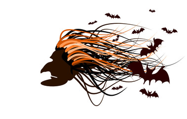 Halloween abstract background ( vector illustration )