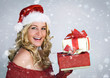 Santa 3 with snow / beautiful Santa-woman