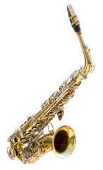 Saxophone isolated on a white background