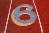 Number Six on a Running Lane