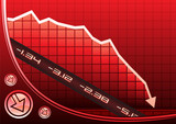 Recession on graph poster