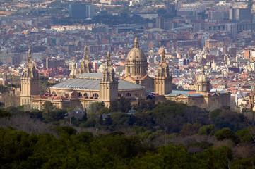Palau National Barcelona, Stadt im Hintergrund