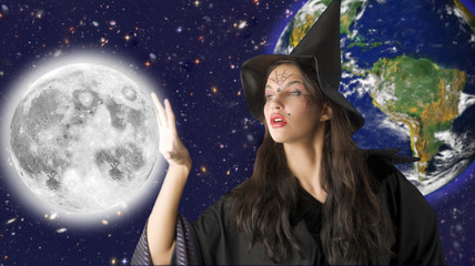 witch in the sky keeping the moon away