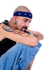 Portrait of a man with alternative lifestyle, studio shot