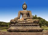 Seated Buddha statue at World Heritage Site, Sukhothai,Thailand poster