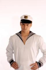 sailor man frowns
