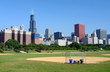 Chicago skyline at the morning