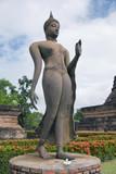 Buddha statue at World Heritage Site in Sukhothai,Thailand poster