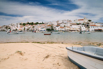 Ferragudo fishing town in Portugal