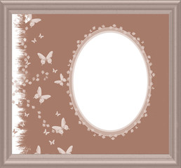 Vintage Gardens Frame - with isolated clipping area