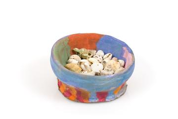 Bowl with seashells