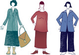 different clothes for overweight figure women poster
