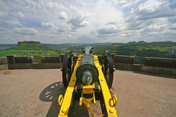 Kanone auf der Festung Königstein