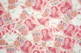 Background of china one hundred yuan bills poster
