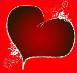 Karte rotes Herz