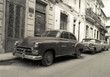 roleta: Old American cars in Havana Cuba