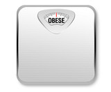 Obese Weight Scale poster