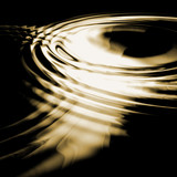 Sepia toned abstract water ripples joining together. poster
