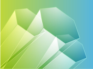 Abstract illustration wallpaper of 3d geometric hexagon