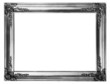 old antique silver frame over white with clipping path