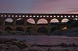Sunset at pont du Gard
