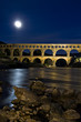 Moonlight at pont du Gard