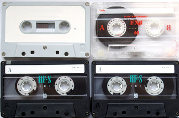 Magnetic audio tape cassette for music