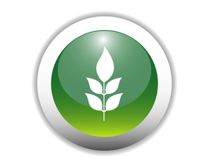 Glossy Plant Icon Button