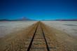 Eisenbahnlinie im Hochland von Bolivien