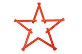 Plastic folding rule.Star shape. poster
