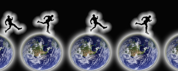 Coureurs sur Terres