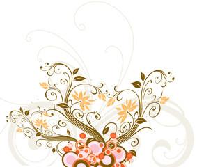 arabesque de fleur sur tige