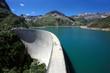 canvas print picture - Emosson dam