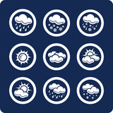 Fototapety Weather  vector icons (set 7, part 1)
