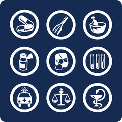 Medicine and Health vector icons (set 6, part 1)