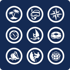 Travel and Vacation vector icons (set 13, part 2)