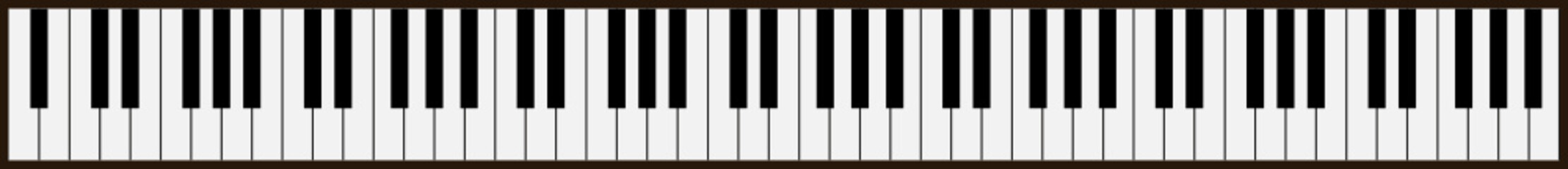 piano keys - vector