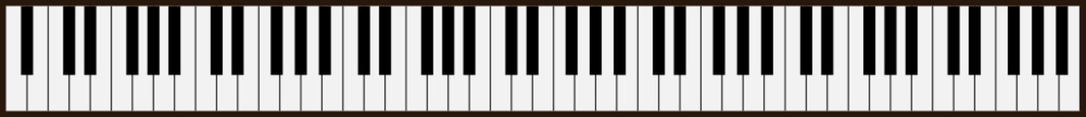 piano keys - vector
