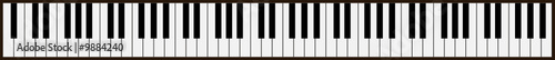 piano keys - vector - 9884240