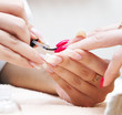 Manicure process... Female hands...