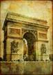 arc de triumph - vintage card (from my Parisian series)