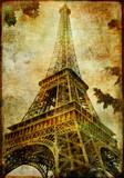 Fototapeta Francja - podróż - Retro