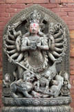 Statue of Hindu God poster